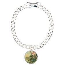Water Lily antique flower lab Charm Bracelet, One