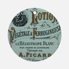 French Cosmetic Label antique Ornament (Round)