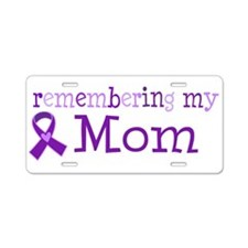 Alzheimers Remember Mom Aluminum License Plate