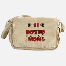 #1 Boxer Mom! Messenger Bag