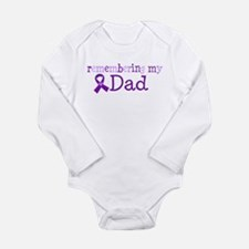 Alzheimers Remember Dad Long Sleeve Infant Bodysui