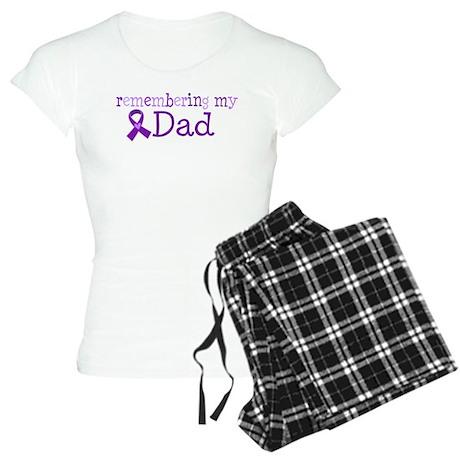 Alzheimers Remember Dad Women's Light Pajamas