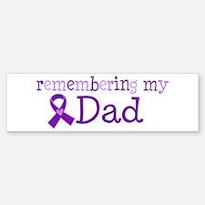 Alzheimers Remember Dad Sticker (Bumper)