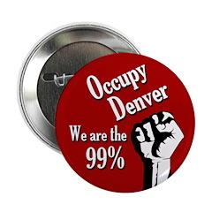 Occupy Denver protest button