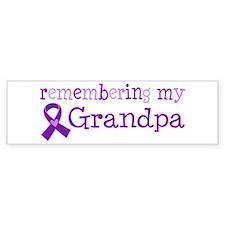 Alzheimers Remember Grandpa Bumper Bumper Sticker