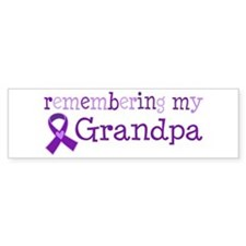 Alzheimers Remember Grandpa Bumper Sticker
