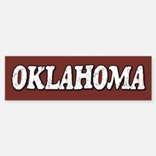 Oklahoma Vintage Bumper Bumper Bumper Sticker