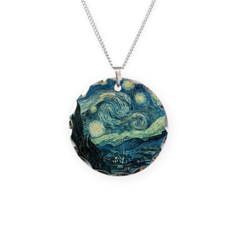 Starry Night Vincent Van Gogh Necklace Circle Char