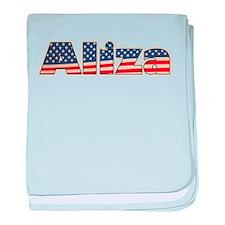 American Aliza baby blanket
