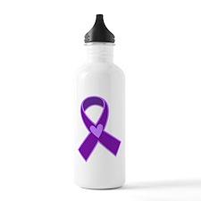 Alzheimer's Purple Ribbon Water Bottle