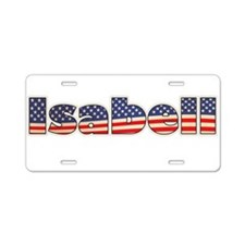 American Isabell Aluminum License Plate