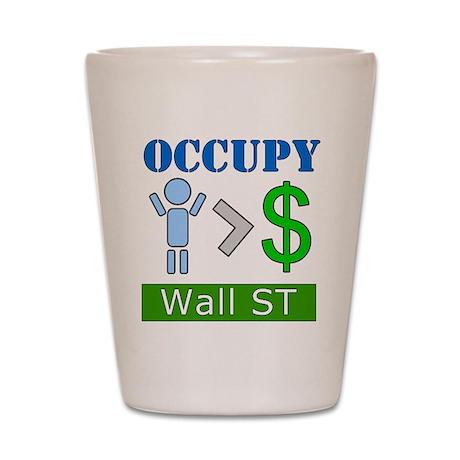 Occupy Wall Street People Ove Shot Glass