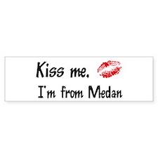 Kiss Me: Medan Bumper Bumper Sticker