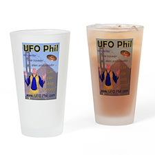 UFO Phil Shirts Drinking Glass