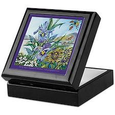 Double Iris Keepsake Box