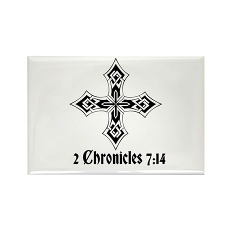 2 Chr 7:14 Kreuz - Rectangle Magnet (100 pack)