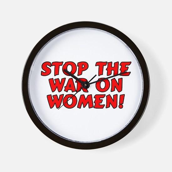Stop the war on women! Wall Clock