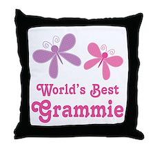 Best Grammie Butterfly Throw Pillow