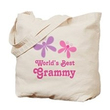 Best Grammy Butterfly Tote Bag