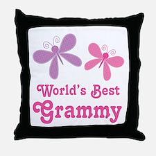 Best Grammy Butterfly Throw Pillow