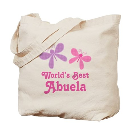 Best Abuela Butterfly Tote Bag