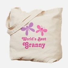 Best Granny Butterfly Tote Bag