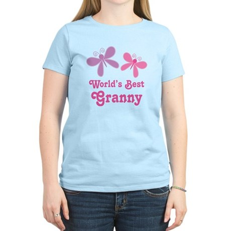 Best Granny Butterfly Women's Light T-Shirt