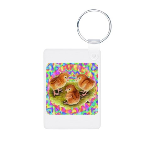 Party Time Chicks Aluminum Photo Keychain