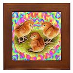 Party Time Chicks Framed Tile