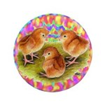 """Party Time Chicks 3.5"""" Button"""