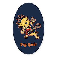 Pug Rocker Decal