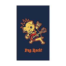 Pug Rocker Bumper Stickers
