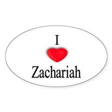 Zachariah Oval Decal
