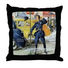 Traffic Cop Throw Pillow