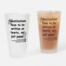 Thatcher Hearts Quote Drinking Glass