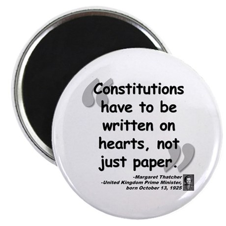 """Thatcher Hearts Quote 2.25"""" Magnet (100 pack)"""