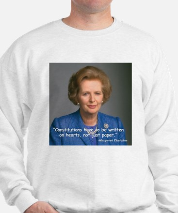 Thatcher Hearts Quote Sweatshirt