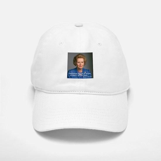 Thatcher Hearts Quote Baseball Baseball Cap