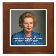 Thatcher Hearts Quote Framed Tile