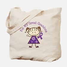 Alzheimers Support Great Grandma Tote Bag