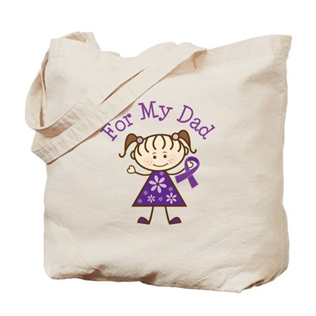 Alzheimers Support Dad Tote Bag