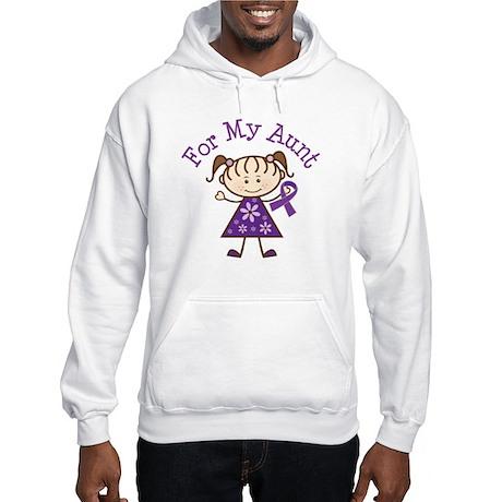 Alzheimers Support Aunt Hooded Sweatshirt