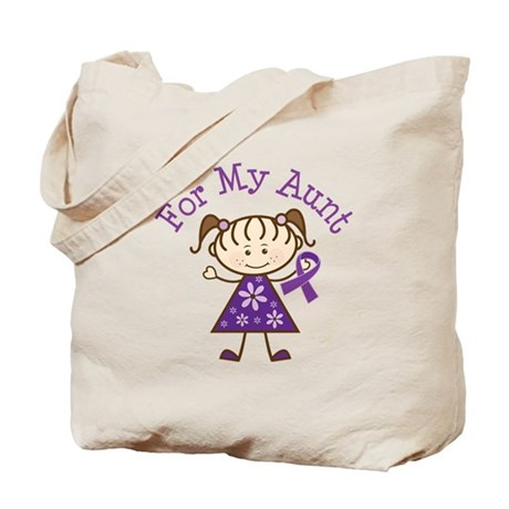 Alzheimers Support Aunt Tote Bag