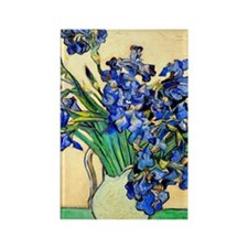Van Gogh - Irises Rectangle Magnet