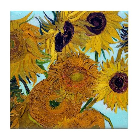 Van Gogh - Sunflowers Tile Coaster