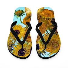 Van Gogh - Sunflowers Flip Flops