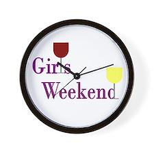 Girls Weekend Wine Wall Clock