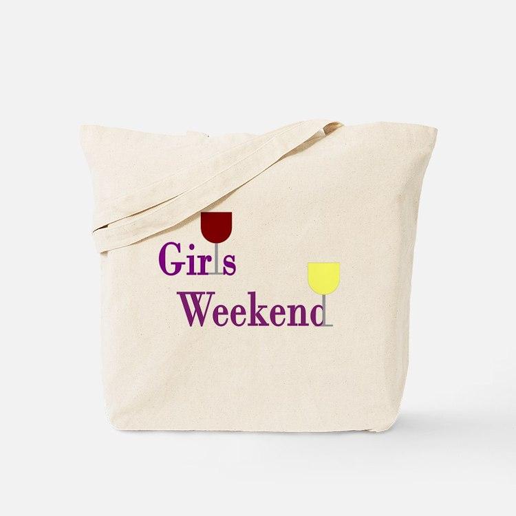 Girls Weekend Wine Tote Bag