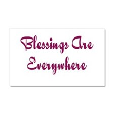 Blessings Are Everywhere Car Magnet 20 x 12