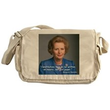 Thatcher Hearts Quote Messenger Bag